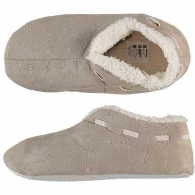 Goedkope dames spaanse sloffen/pantoffels beige