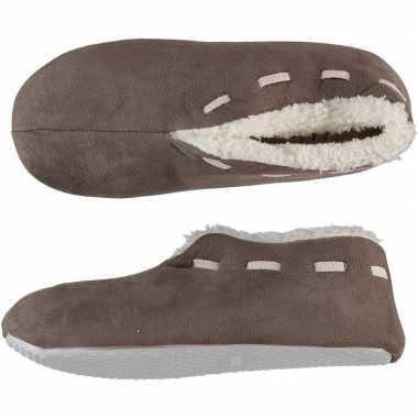 Goedkope dames spaanse sloffen/pantoffels bruin