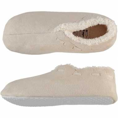 Goedkope dames spaanse sloffen/pantoffels creme wit
