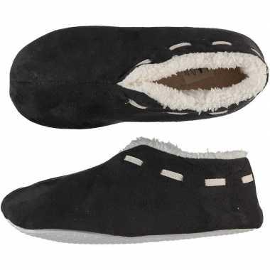 Goedkope dames spaanse sloffen/pantoffels donkergrijs