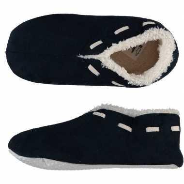 Goedkope dames spaanse sloffen/pantoffels navy