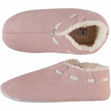 Goedkope dames spaanse sloffen/pantoffels oud roze