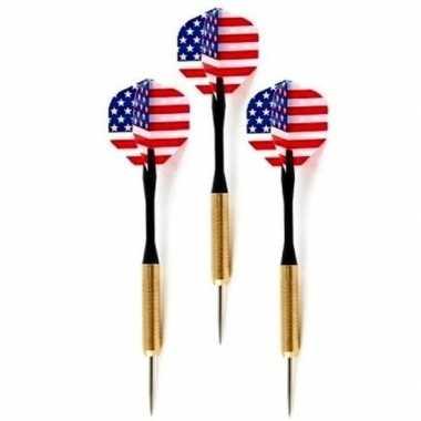 Goedkope dartpijlen set amerikaanse/usa vlag stuks