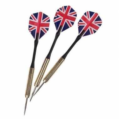 Goedkope dartpijlen set engelse/britse vlag stuks