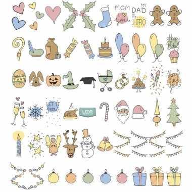 Goedkope deco lichtbak/lightbox feestdagen emoticons stuks