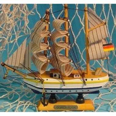 Goedkope decoratie houten model schip gorch fock