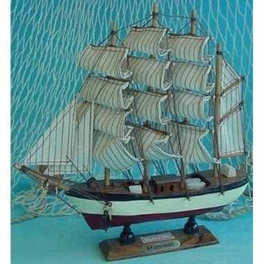 Goedkope decoratie houten model schip passat