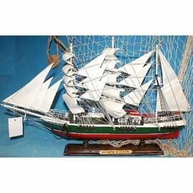 Goedkope decoratie houten model schip r.rickmers