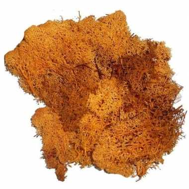 Goedkope decoratie mos oranje gram