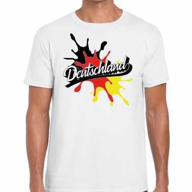Goedkope deutschland/duitsland t shirt spetter wit heren