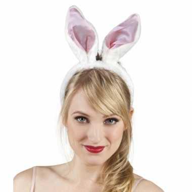 Goedkope diadeem wit roze konijnen oren