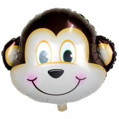 Goedkope dieren folieballon aap/apen