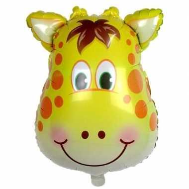 Goedkope dieren folieballon giraf/giraffen