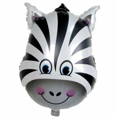 Goedkope dieren folieballon zebra