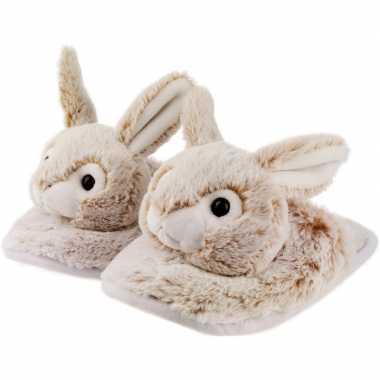 Goedkope dieren konijn/haas instap sloffen/pantoffels kinderen