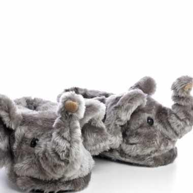 Goedkope dieren olifant pantoffels/sloffen kinderen maat /