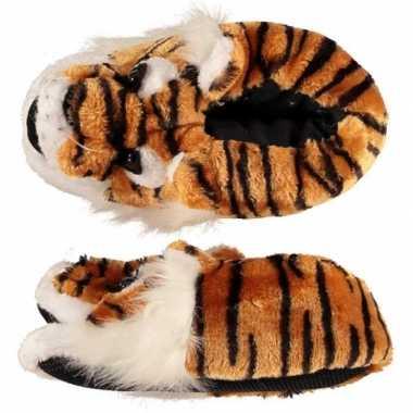 Goedkope dieren sloffen/pantoffels tijger dames maat /