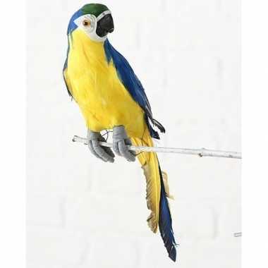 Goedkope dierenbeeld blauwe ara papegaai vogel hangdecoratie