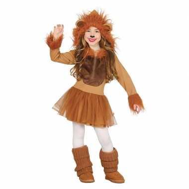 Goedkope dierenpak leeuw verkleedjurkje meisjes