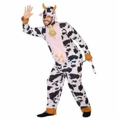 Goedkope dierenpak verkleed kostuum koe volwassenen