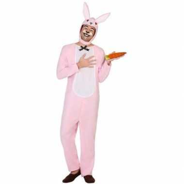 Goedkope dierenpak verkleed kostuum paashaas/konijn volwassenen