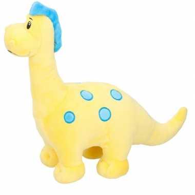 Goedkope dino knuffel brontosaurus geel