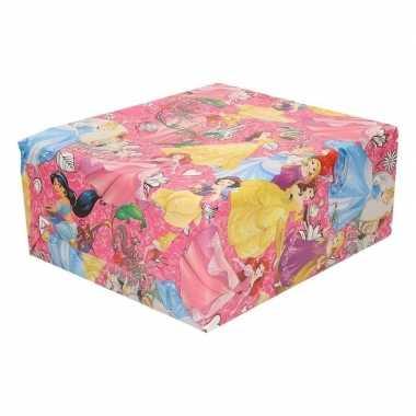 Goedkope disney inpak/cadeaupapier princess roze
