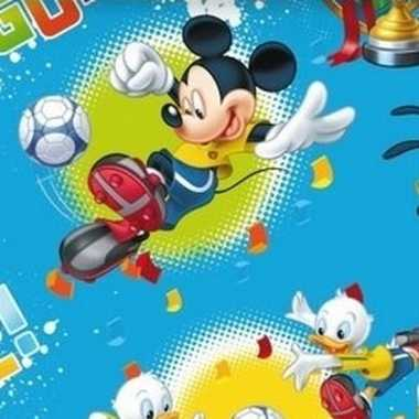 Goedkope disney inpakpapier mickey mouse blauw rol