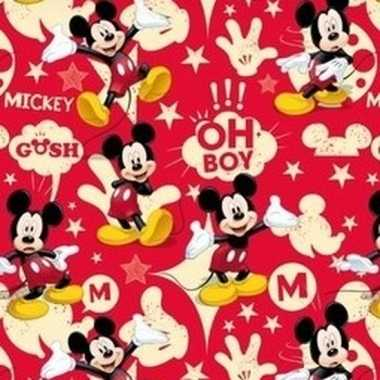 Goedkope disney inpakpapier mickey mouse rood rol