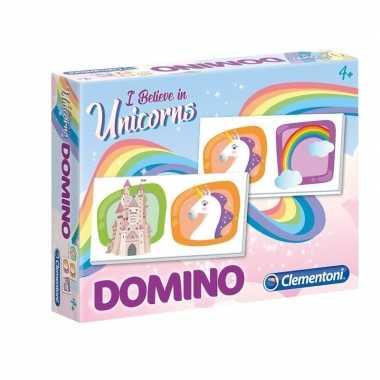Goedkope domino spel eenhoorn kinderen