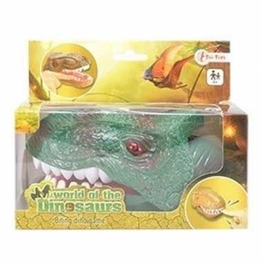 Goedkope donkergroene dinosaurus bijtspel