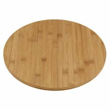 Goedkope draaiende kaas hapjes serveer plank bamboe hout