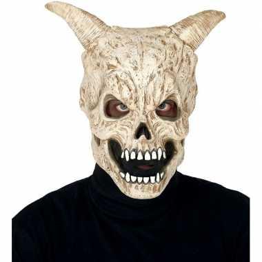 Goedkope duivel schedel hoorns horror masker latex