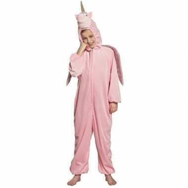 Goedkope eenhoorn dieren onesie/kostuum kinderen roze