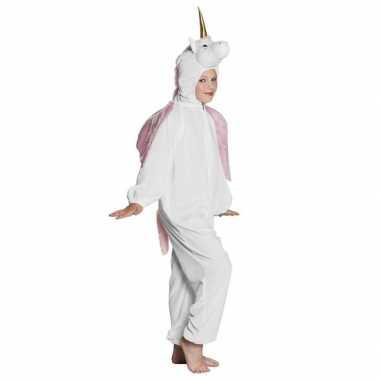 Goedkope eenhoorn dieren onesie/kostuum kinderen wit