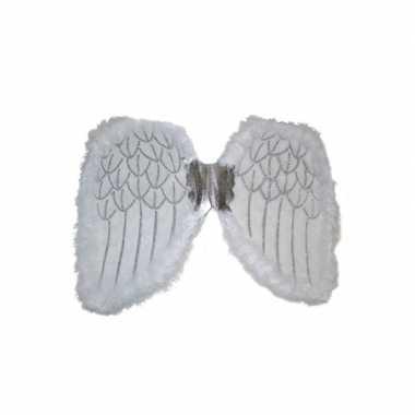 Goedkope engelen verkleed vleugels wit