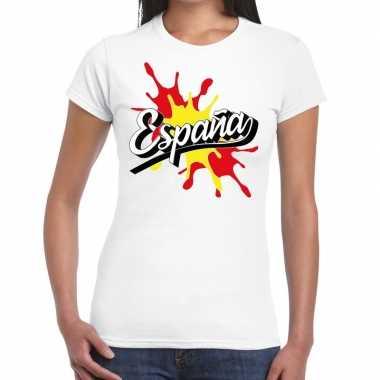 Goedkope espana/spanje t shirt spetter wit dames