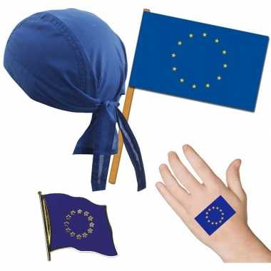 Goedkope europa/europees thema verkleed set volwassenen