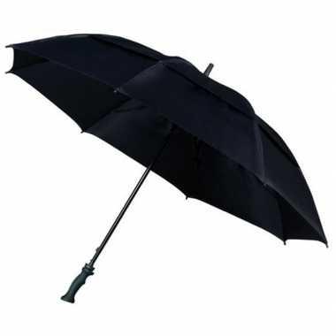 Goedkope extra sterke storm paraplu zwart
