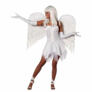 Goedkope feest jurkje wit dames