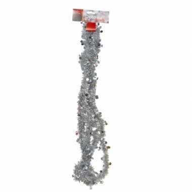 Goedkope feestslinger zilver tinsel sterren versiering