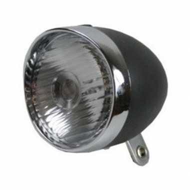Goedkope fiets koplamp led zwart/zilver batterijen