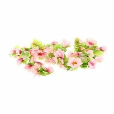 Goedkope fiets stuur versiering bloemenslinger roze groen
