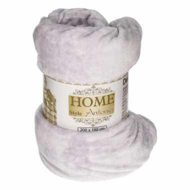 Goedkope flanellen deken/plaid lavendel