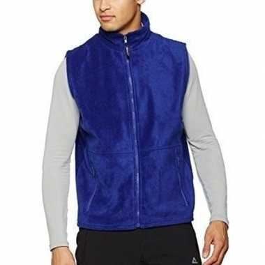 Goedkope fleece bodywarmer kobalt blauw volwassenen