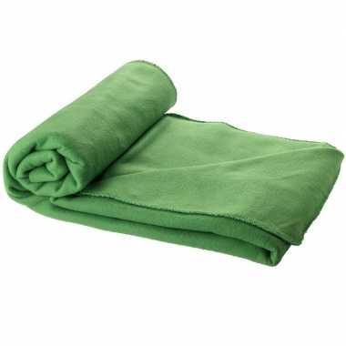 Goedkope fleece deken groen