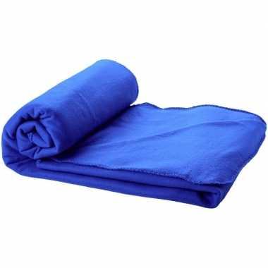 Goedkope fleece deken kobalt blauw