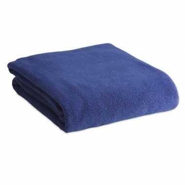 Goedkope fleece deken/plaid blauw