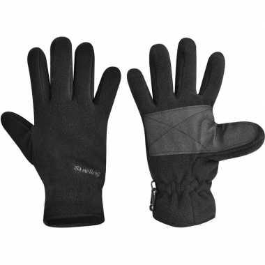 Goedkope fleece handschoenen starling zwart kinderen