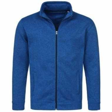 Goedkope fleece outdoor vest premium blauw heren